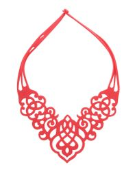 40weft | Red Necklace | Lyst