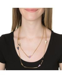 Sarah Magid | Metallic Pave Layering Necklace | Lyst