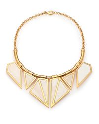 A Peace Treaty | Metallic Ukru Inlaid Bone Bib Necklace | Lyst
