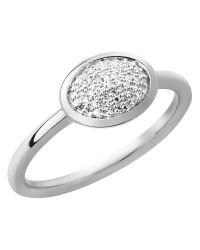Links of London - Metallic Diamond Essentials Silver Oval Ring - Lyst