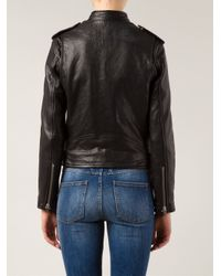IRO - Black 'Zaki' Biker Jacket - Lyst