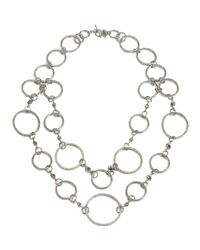 Armenta | Metallic Doublestrand Opal Diamond Circle Link Necklace | Lyst