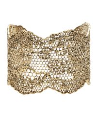 Aurelie Bidermann | Metallic Lace Cuff | Lyst