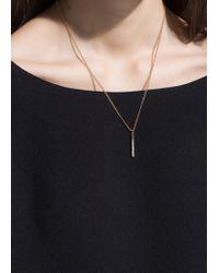 Mango - Metallic Rhinestone Bar Necklace - Lyst