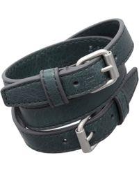 Balenciaga - Green Arena Classic Triple B Bracelet for Men - Lyst