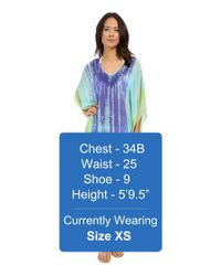 Trina Turk | Blue Nomad Tie-dye Tunic Cover-up | Lyst