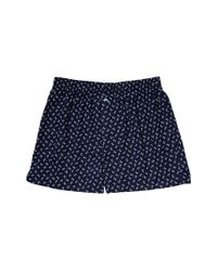 Tommy Bahama - Blue Printed Island Washed Cotton Woven Boxer for Men - Lyst