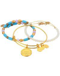 ALEX AND ANI - Metallic Moonlight Marina Bracelet Set Of 3 - Lyst