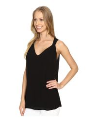 NYDJ - Black Twisted Strap Tank Top - Lyst