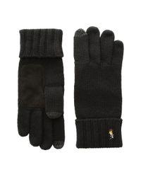 Polo Ralph Lauren - Black Signature Merino Touch Gloves for Men - Lyst