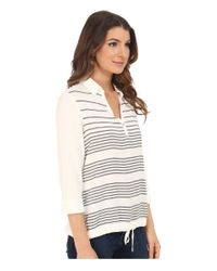 Mavi Jeans - White Striped Blouse - Lyst