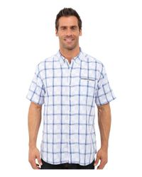 Tommy Bahama - Blue Plaid Perfect Short Sleeve for Men - Lyst