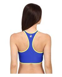 Body Glove - Multicolor Borderline Zip Front Crop Top - Lyst