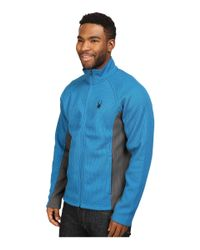 Spyder - Blue Constant Full Zip Mid Weight Core Sweater for Men - Lyst