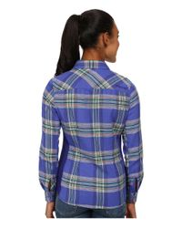 Marmot - Blue Maci Flannel Long Sleeve - Lyst