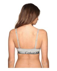 Calvin Klein - Gray Ck Id Cotton Large Waist Band Triangle Unlined - Lyst