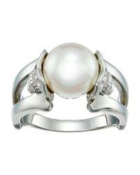 Majorica - White S 10mm Round Skull Ring - Lyst
