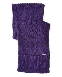 MICHAEL Michael Kors - Purple Cable Patchwork Muffler - Lyst
