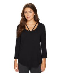 Pj Salvage - Black Solid Strap Long Sleeve - Lyst
