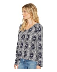 Roxy - Blue A Sky Full Of Stars Woven Top - Lyst