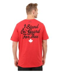 Under Armour - Red Canada Country Pride Tri-blend Short Sleeve Tee for Men - Lyst