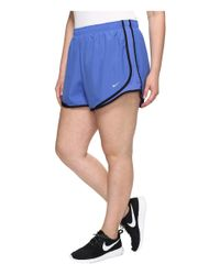 """Nike - Blue Dry Tempo 3"""" Running Short (size 1x-3x) - Lyst"""