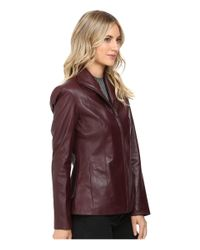 Cole Haan - Multicolor Zip-Up Leather Jacket - Lyst