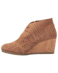 TOMS - Brown Desert Wedge Bootie - Lyst