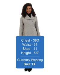 Jessica Simpson - Gray Plus Size Asymmetrical Braided Wool Coat With Shawl Collar - Lyst
