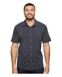 Mountain Hardwear - Blue Air Tech Ac Stripe Short Sleeve Shirt for Men - Lyst