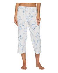 Lauren by Ralph Lauren - Multicolor 3/4 Sleeve Classic Notch Collar Capri Pajama - Lyst