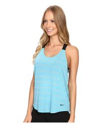 Nike - Blue Elastika Elevate Tank Top - Lyst