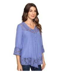 Brigitte Bailey - Blue Fennec Lace Top - Lyst