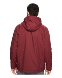 Izod - Red Water Resistant Fleece-lined Jacket With Hidden Hood for Men - Lyst