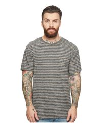 Vissla - Gray Flushed Short Sleeve Heathered Knit Pocket Top for Men - Lyst