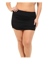 Lauren by Ralph Lauren - Black Plus Size Beach Club Solids Ultra High Waist Skirted Hipster Bottoms - Lyst