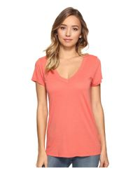 Lamade - Pink Short Sleeve Low V-neck Boyfriend Tee - Lyst