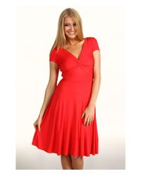 BCBGMAXAZRIA - Red Ritz Twisted Front Dress - Lyst