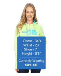 The North Face - Green Fave Half Dome Full Zip Hoodie - Lyst