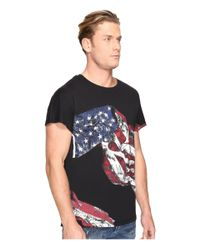 Just Cavalli - Black American Flag T-shirt for Men - Lyst