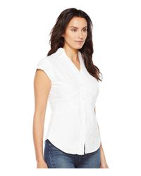 Scully - White Cantina Elaina Cap Sleeve Top - Lyst