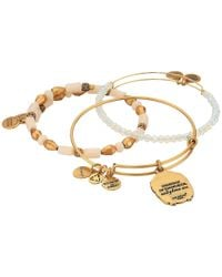 ALEX AND ANI - Metallic Moonlight Knowledge Bracelet Set Of 3 - Lyst