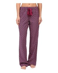 Splendid - Red Festive Flannel Pj Set - Lyst