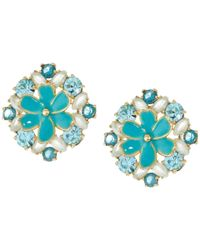 Kate Spade - Blue Here Comes The Sun Statement Studs Earrings - Lyst