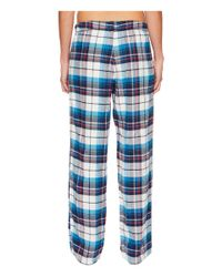 Jockey - Blue Flannel Plaid Pants - Lyst