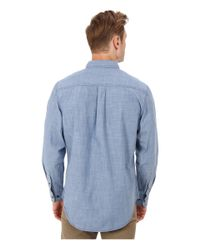 U.S. POLO ASSN. - Blue Solid Canvas Sport Shirt for Men - Lyst