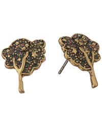 Marc Jacobs - Metallic Charms Pave Tree Studs Earrings - Lyst