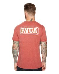 RVCA - Red Suzuki Sign Tee for Men - Lyst
