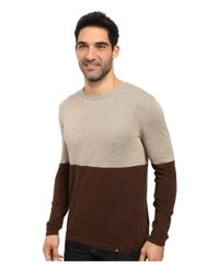 Prana - Brown Color Block Sweater for Men - Lyst