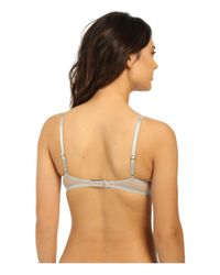 a41d96275685b0 Lyst - Natori Chantilly Lace Plunge Tank Underwire Bra in Natural